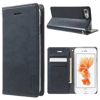 Image of   iphone 7/8 Simple Classic Blue Moon Card Slot Wallet Leather - Mørke Blå / under updatering